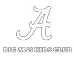 University Of Alabama Coloring Pages Coloring Pages Ideas Reviews